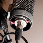 View of elastic microphone shock mount